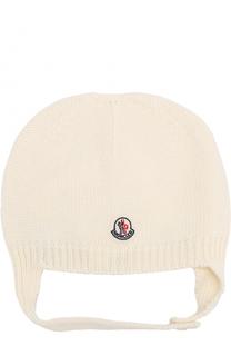 Вязаная шапка из овечьей шерсти Moncler Enfant