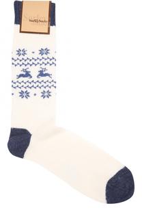 Носки с контрастной отделкой и принтом Sorley Socks
