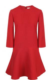 Приталенное мини-платье с расклешенными рукавами Valentino