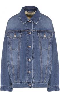 Джинсовая куртка свободного кроя с потертостями Dries Van Noten