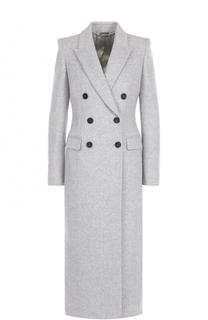 Шерстяное двубортное пальто Alexander McQueen