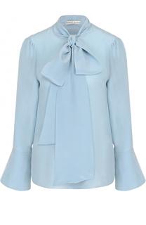 Шелковая блуза с расклешенными рукавами и воротником аскот Alice + Olivia