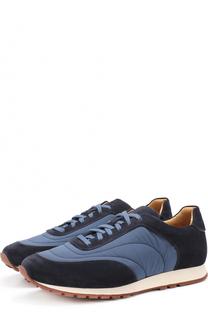 Комбинированные кроссовки на шнуровке Loro Piana