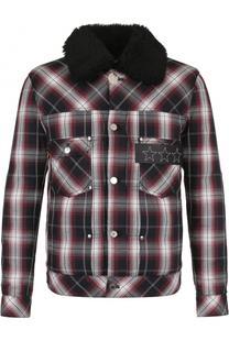 Хлопковая куртка в контрастную клетку Givenchy