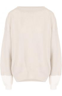 Кашемировый пуловер фактурной вязки с вырезом-лодочка Dorothee Schumacher