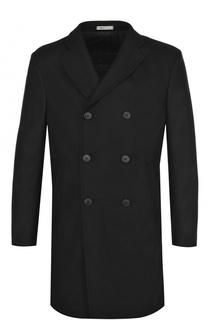 Шерстяное двубортное пальто Armani Collezioni