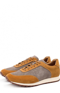 Замшевые кроссовки на шнуровке Loro Piana