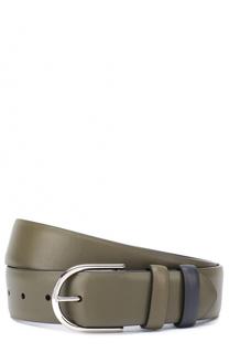 Кожаный ремень с металлической пряжкой Loro Piana