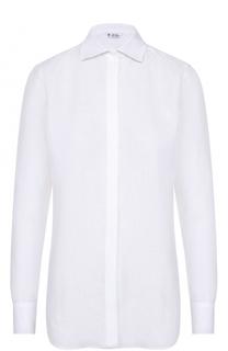 Льняная блуза прямого кроя Loro Piana