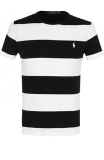 Хлопковая футболка в контрастную полоску Polo Ralph Lauren