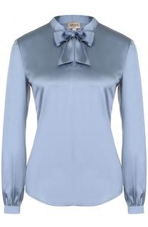 Шелковая приталенная блуза с воротником аскот Armani Collezioni