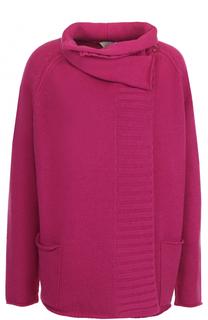Пуловер свободного кроя из смеси шерсти и кашемира Armani Collezioni