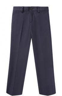 Однотонные брюки джерси прямого кроя Dal Lago