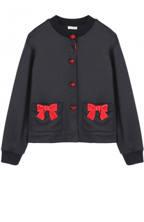 Шерстяной кардиган с бантами и декоративными пуговицами Dolce & Gabbana