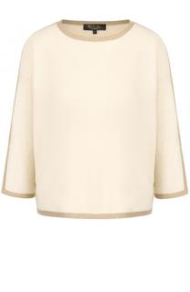 Кашемировый пуловер с круглым вырезом Loro Piana