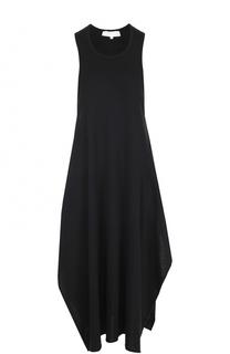 Хлопковое платье с высокими разрезами Stella McCartney