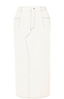 Джинсовая юбка-карандаш со шнуровкой 3.1 Phillip Lim