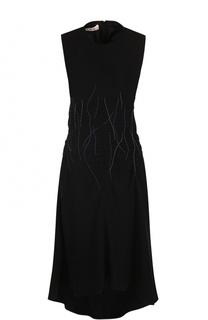 Приталенное платье-миди без рукавов Marni