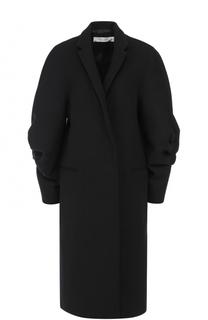 Шерстяное пальто с объемными рукавами Victoria Beckham