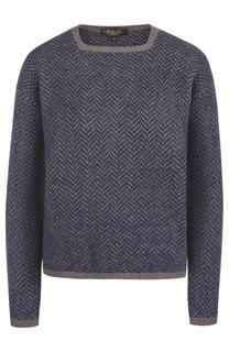 Кашемировый пуловер прямого кроя Loro Piana