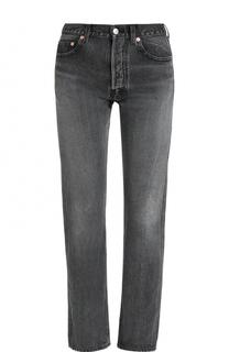 Укороченные джинсы с потертостями Balenciaga