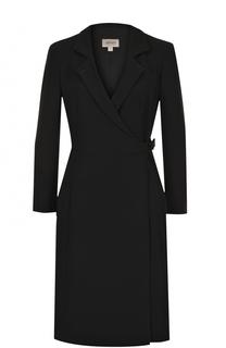 Платье-миди с запахом и длинным рукавом Armani Collezioni