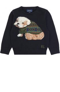 Вязаный свитер с принтом Polo Ralph Lauren