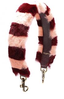 Ремень для сумки с отделкой из меха кролика Dolce & Gabbana