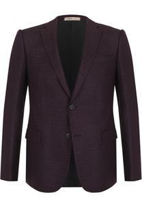 Шерстяной однобортный пиджак Armani Collezioni