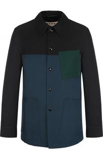 Удлиненная куртка с контрастной отделкой Marni