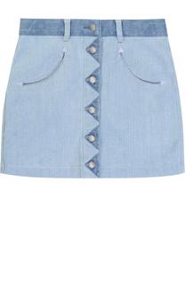 Мини-юбка из денима Stella McCartney