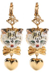 Серьги с подвесками и кристаллами Swarovski Dolce & Gabbana