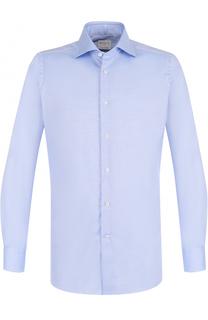 Хлопковая приталенная сорочка с воротником кент Bagutta