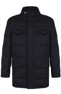 Пуховая куртка из шерсти с воротником-стойкой Brioni