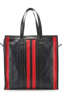 Кожаная сумка-шоппер в полоску Balenciaga