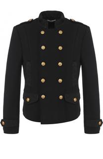 Шерстяной двубортный пиджак Dolce & Gabbana