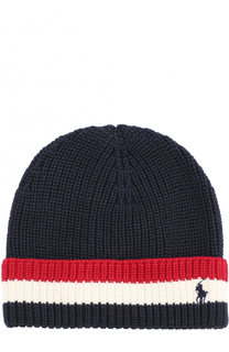 Вязаная шапка с контрастной отделкой Polo Ralph Lauren