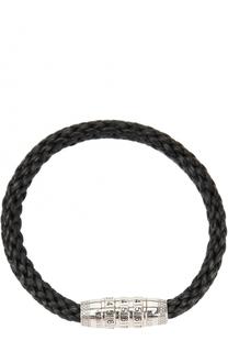 Кожаный плетеный браслет с застежкой Tateossian
