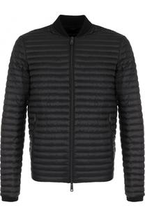 Пуховая стеганая куртка на молнии Armani Jeans