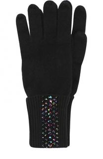 Кашемировые перчатки с отделкой из страз Swarovski William Sharp