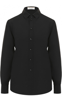 Шелковая блуза прямого кроя Saint Laurent