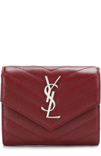 Кожаный кошелек с логотипом бренда Saint Laurent