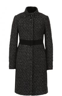 Буклированное пальто с завышенной талией и воротником-стойкой Blugirl