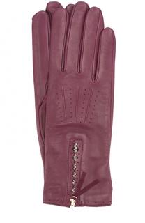 Кожаные перчатки с молниями Agnelle