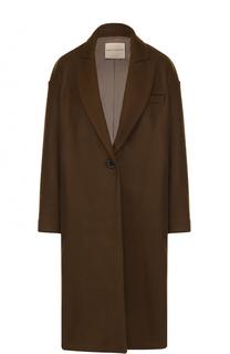 Шерстяное пальто свободного кроя Erika Cavallini
