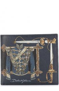 Кожаное портмоне с принтом с отделениями для кредитных карт Dolce & Gabbana