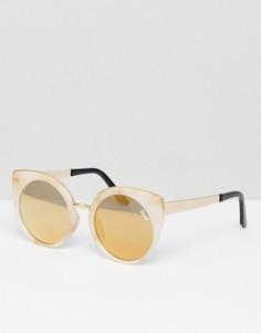 Белые солнцезащитные очки кошачий глаз с мраморным эффектом Quay Australia Last Dance - Белый