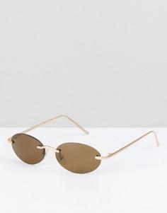 Круглые солнцезащитные очки без оправы Reclaimed Vintage Inspired - Золотой