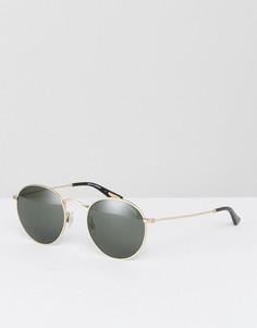 Круглые солнцезащитные очки в золотистой оправе Levis - Золотой Levis®