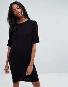Цельнокройное платье Pieces Fiorella - Черный